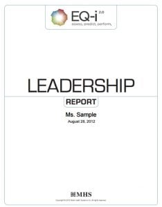 Report cover for the EQ-i 2.0 Leadership Report by MHS