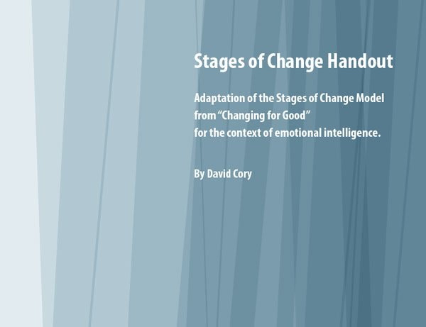 Stages of Change Handout Cover by David Cory