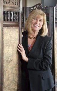 Catherine Burdett standing
