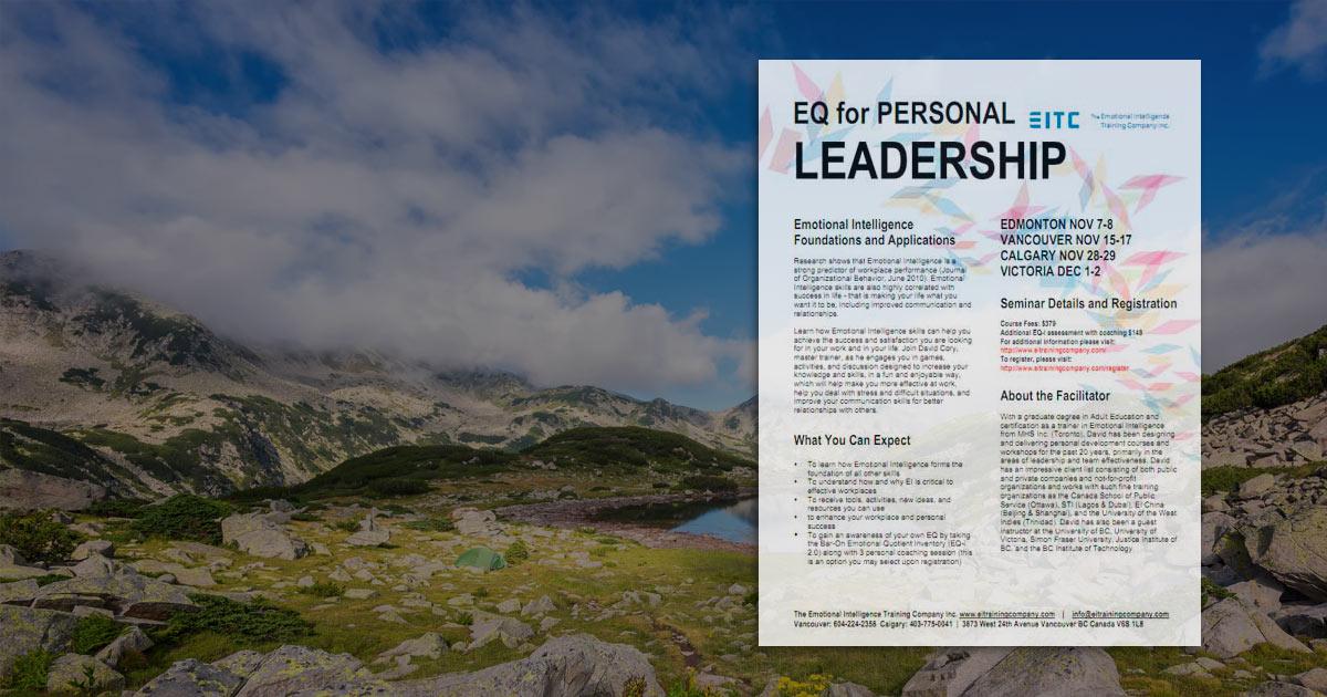 EQ for Personal Leadership