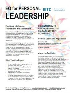 EQ for personal leadership course cover