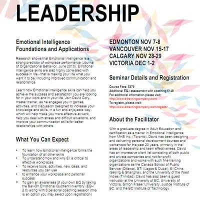 New Course: EQ for Personal Leadership