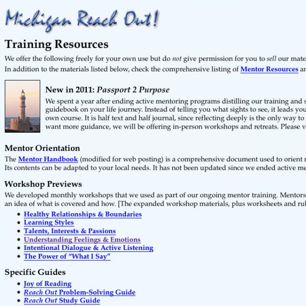EQ Tools: Michigan Reach Out!