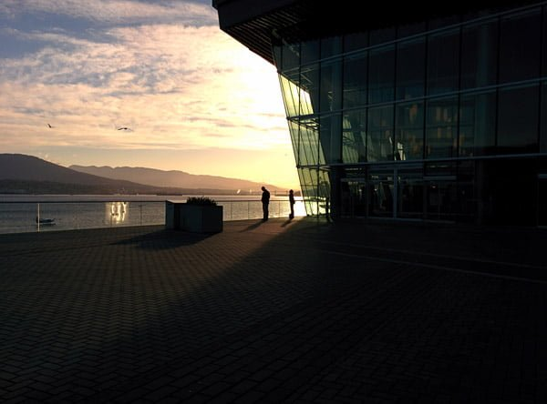 The Morning sun shines in Vancouver at the Event Centre
