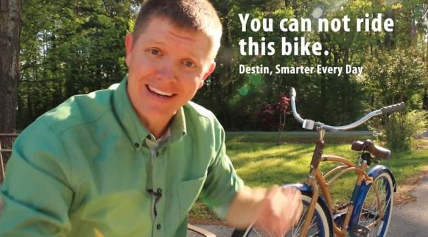 You can not ride this bike, says Destin
