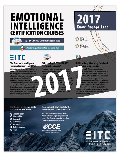 2017 Certification Course Brochure Cover (PDF)