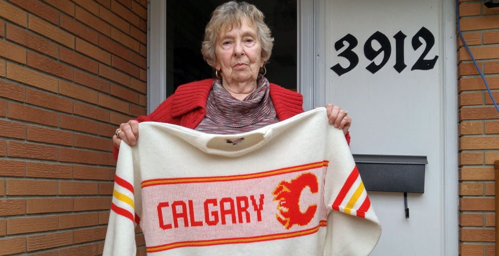 Joyce is a diehard Calgary Flames Fan.
