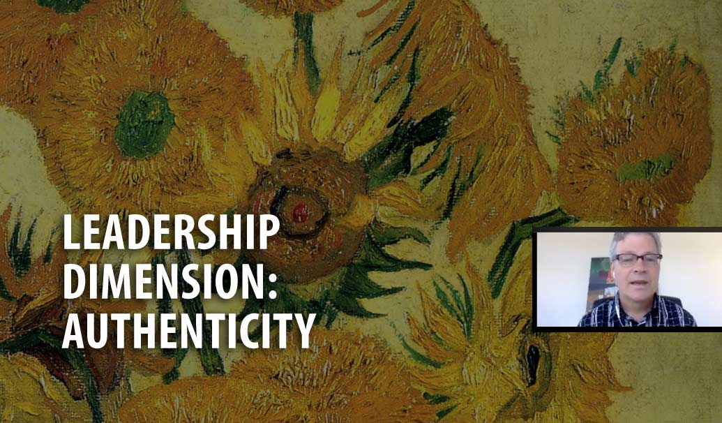Webinar cover image about Leadership Dimension of Authenticity