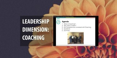 LEADERSHIP DIMENSION: COACHING