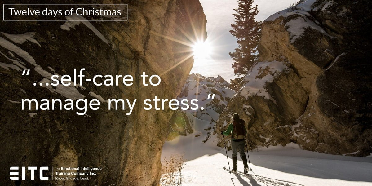 """Self-care to manage my stress."""