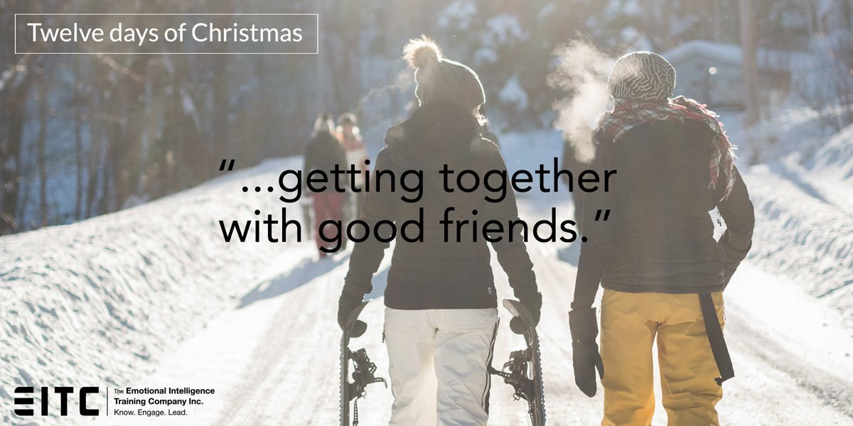 """Getting together with good friends."""
