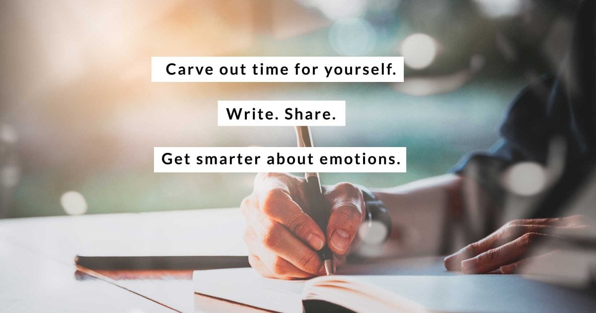 Carve out time for yourself. Write. Share. Get smarter about emotions.