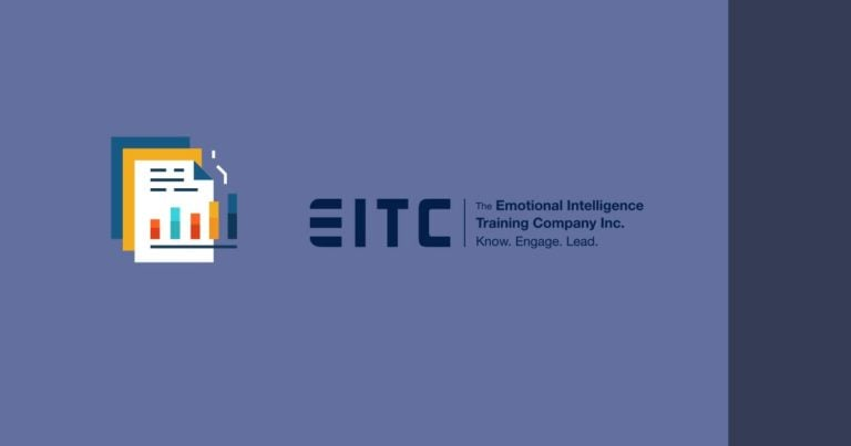 Reports icon followed by the EITC logo, over a flat coloured background.