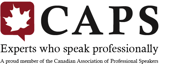 Canadian Association of Professional Speakers, logo: Experts who speak professionally.