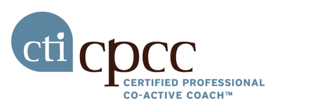 CPCC, Certified Professional Co-Active Coach logo.