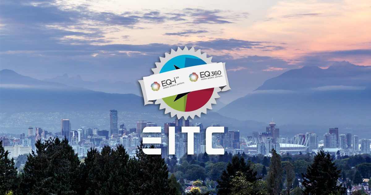EQ-i 2.0 Certification EITC logo over the Vancouver skyline.